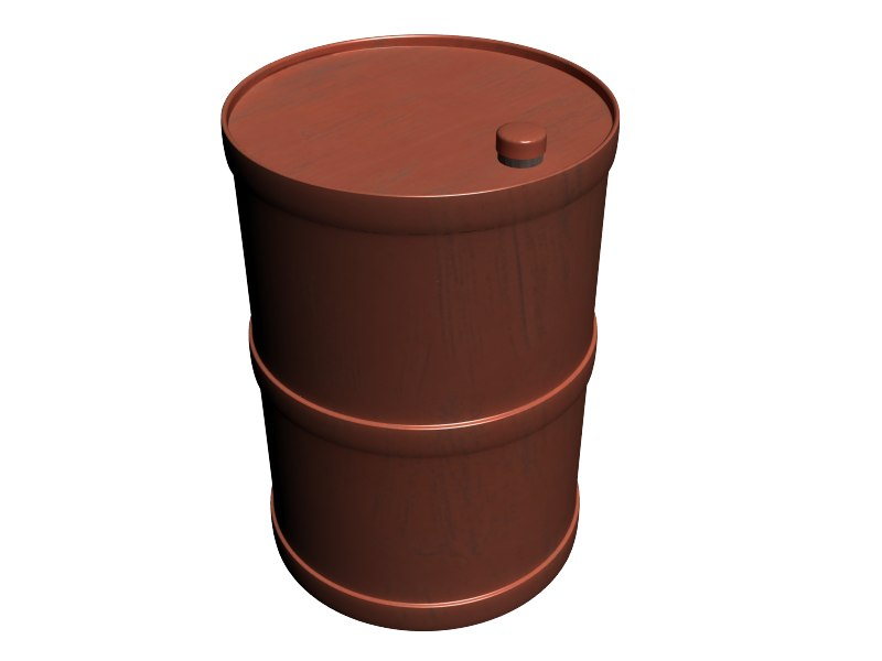 3d red barrel