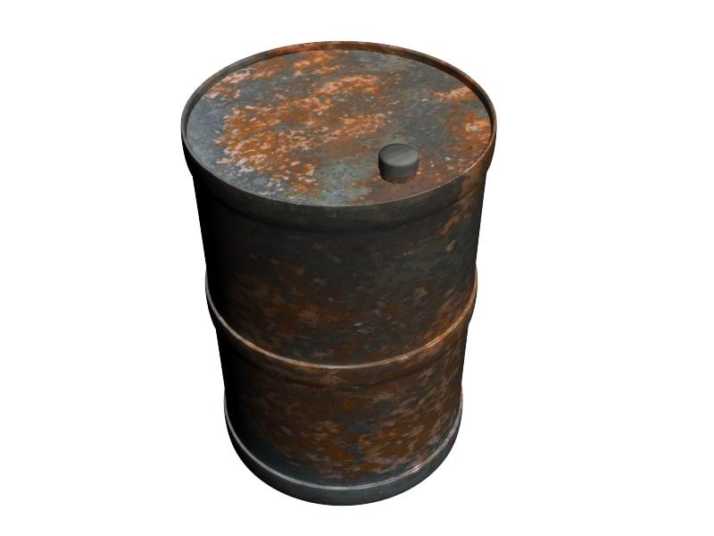 rusted barrel 3d