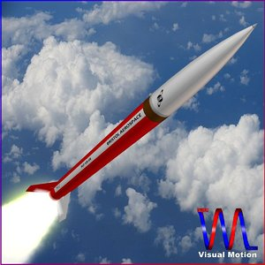 3d sounding rocket black brant model