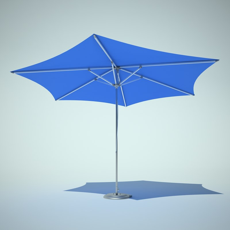beach umbrella 3d max