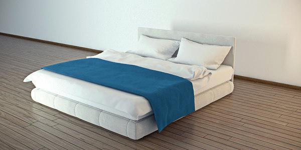 bed bedrooms blanket 3d 3ds