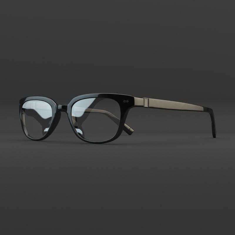 realistic glasses 3d max