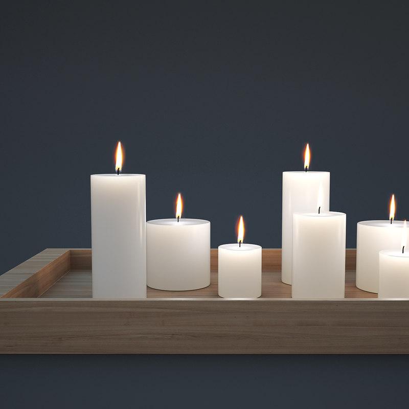 3d candles model