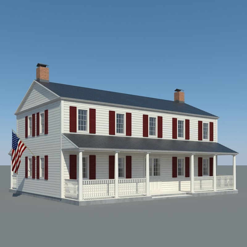 3d house wood