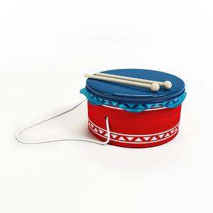 drum baby 3d model