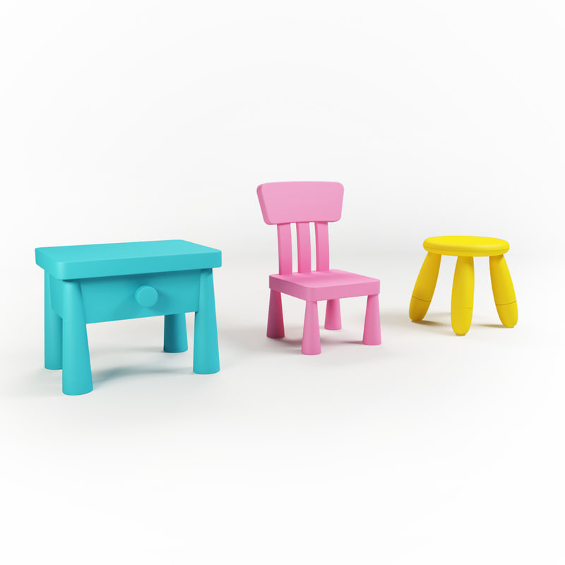 3d chairs kids s