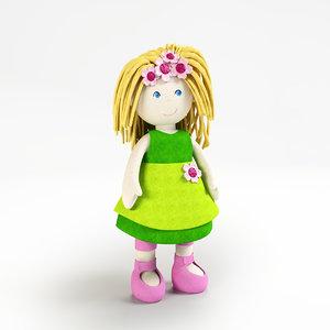 3d model dolls