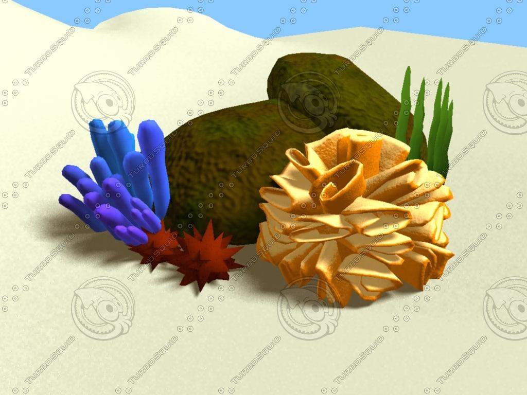 coral cartoon 3d model