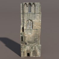 Castle Ruin #3 Low Poly 3d Model