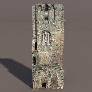 3d model of castle ruin modelled