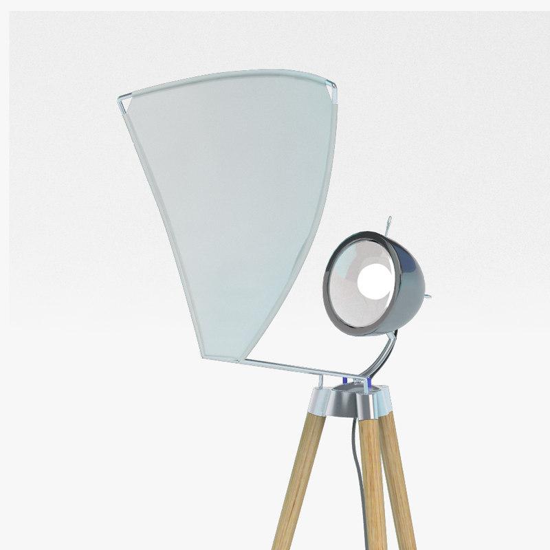 3d modern floor lamp model