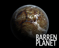 3d barren planet model