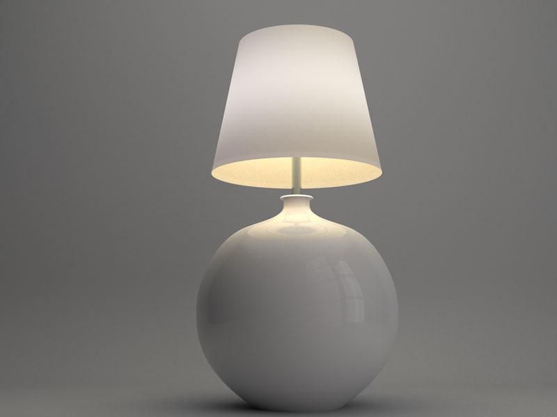 3d modern lamp lighting model