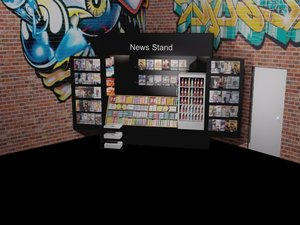 news stand store model