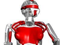 futuristic robogirl 3d max