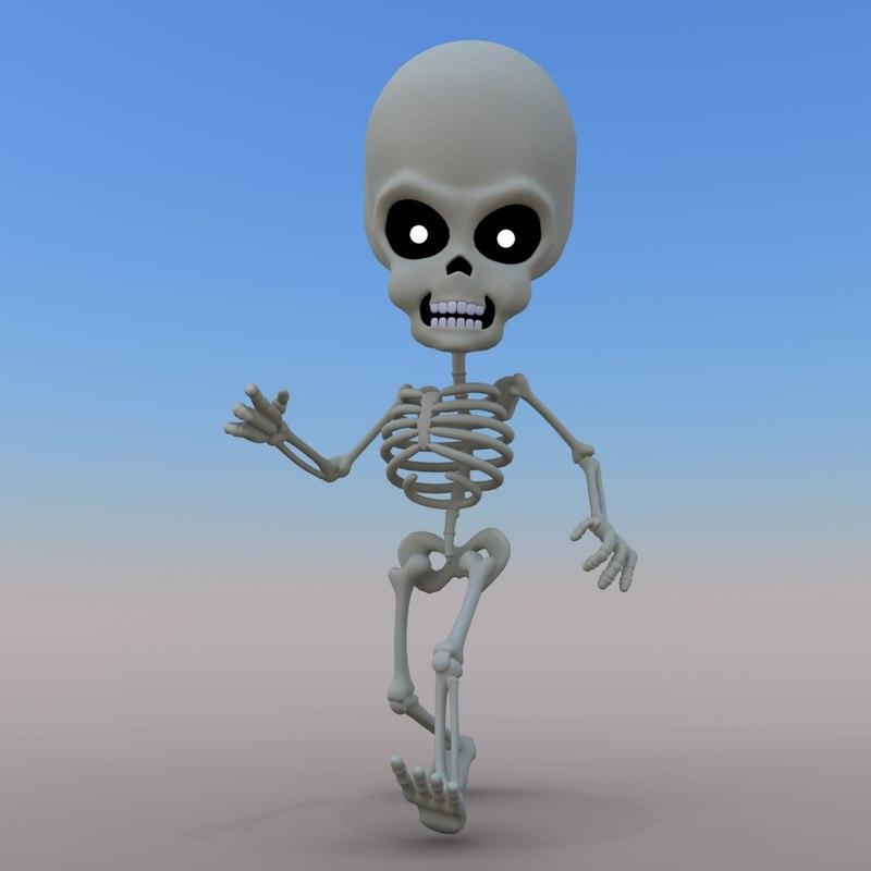 max cartoon skeleton