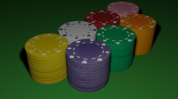3ds max poker pokerchips chips