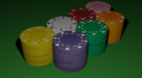 3ds max poker pokerchips chips