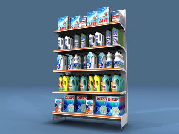 shelf shelves detergent rack 3d max