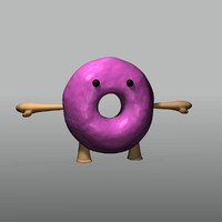 3d donuts doughnut model