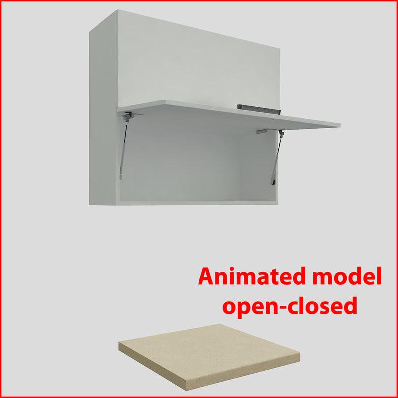 kitchen furnitures 90 cm 3d max