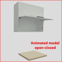 Kitchen furnitures up 90 cm doors orizontal 2