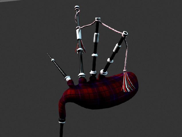 3d scotland pipe model