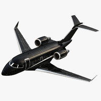 Bombardier Challenger 605 Private Black