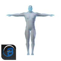 Muscular Man Base Mesh LOW POLY