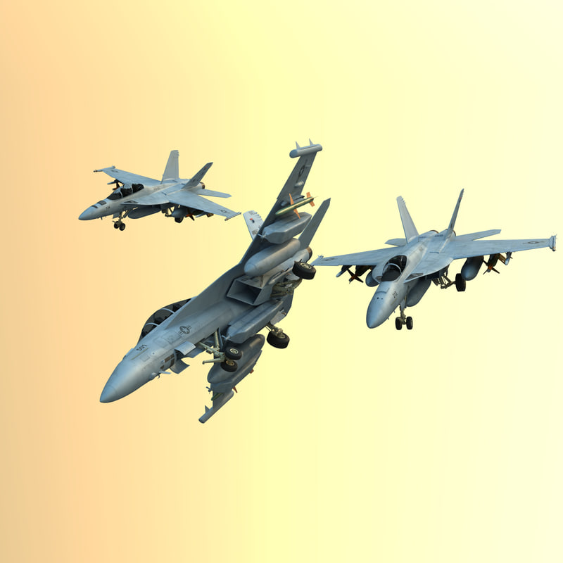 3d model military fighters super hornet