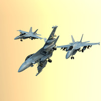 3d model military fighters super hornet