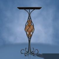 free decorative interior 3d model