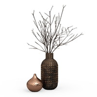 Vases Boconcept with pussy willow