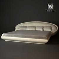 free bed modern 3d model