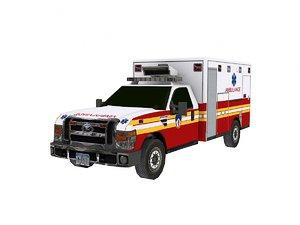 ambulance games 3d model