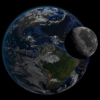 3d 3ds realistic earth moon hd