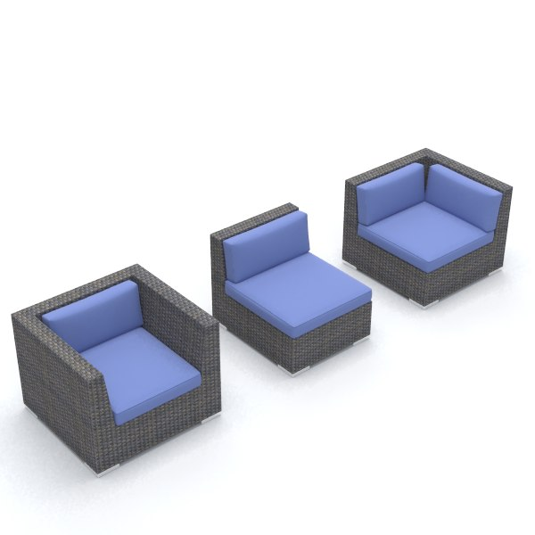 rhino wicker chair set