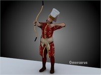 3d ottoman janissary archer model