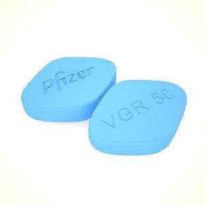 3d model viagra pill