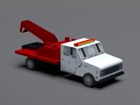 tow truck 3d 3ds