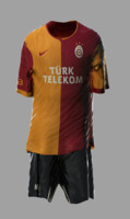 soccer kits animation galatasaray 3d model