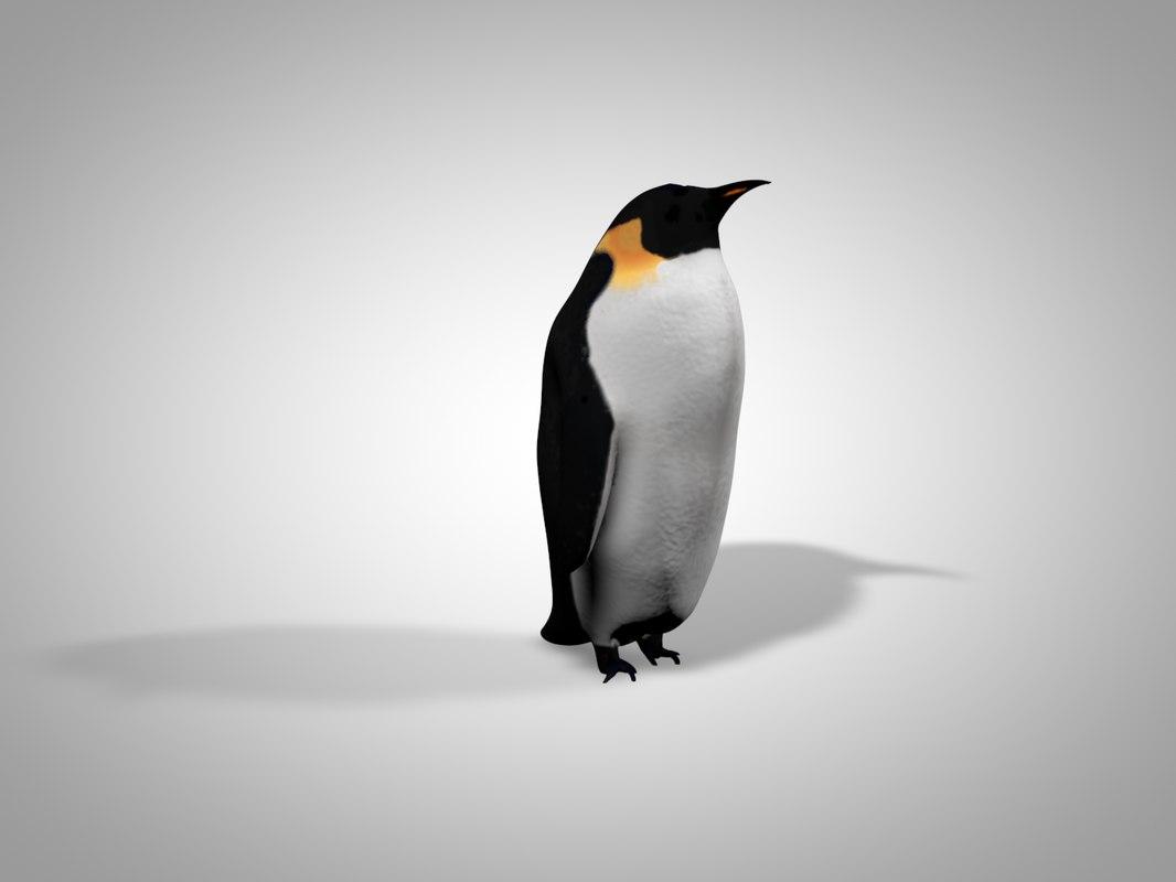 simple penguin 3d model