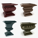 Fluted Square Urn Collection
