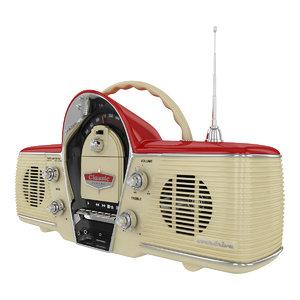 3d radio cassette player model
