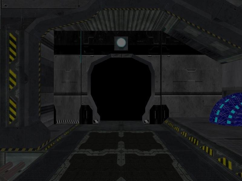 3d model science fiction corridor