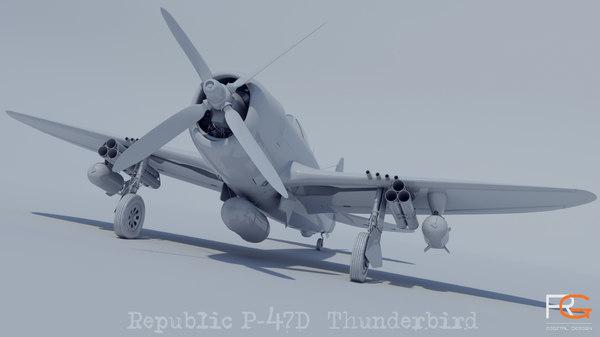 republic p47-d model