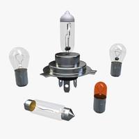 c4d car lamps