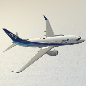 boeing 737-700 ana 3d model