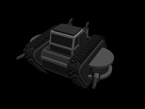 armoured track layer 2nd 3d model