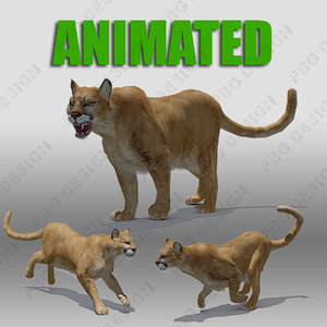 3ds max mountain lion animations